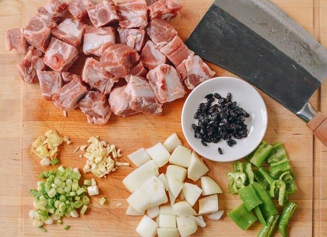 Pork Ribs in Black Bean Sauce Ingredients, thewoksoflife.com