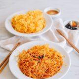 Simple Spicy Pan-fried Noodles, thewoksoflife.com