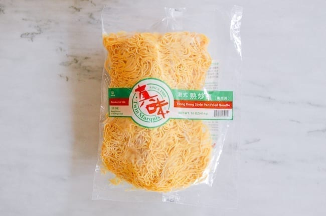 Package of Hong Kong Style Pan Fried Noodles, thewoksoflife.com