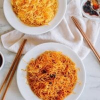 Simple Spicy Pan-fried Noodles, thewoksoflife.com