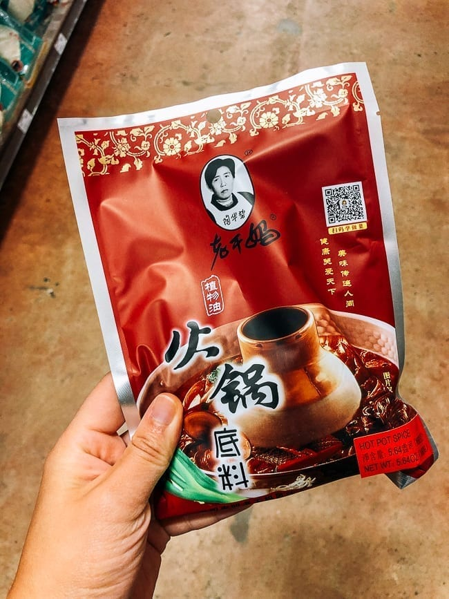 Packet of Lao Gan Ma Hot Pot Soup Base