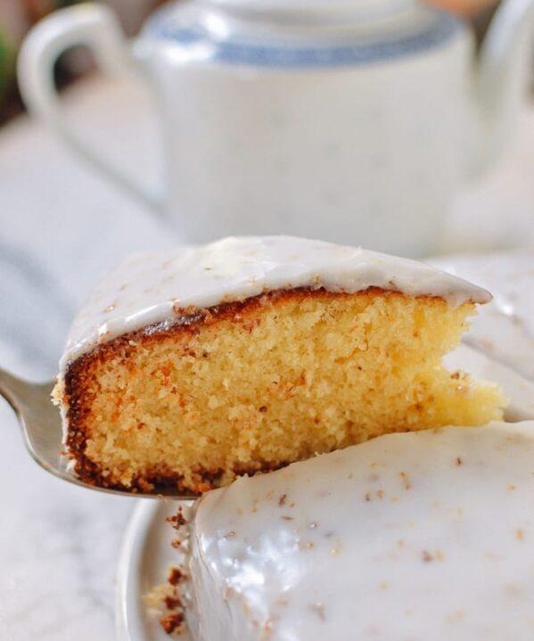 Glazed Osmanthus Cake, thewoksoflife.com