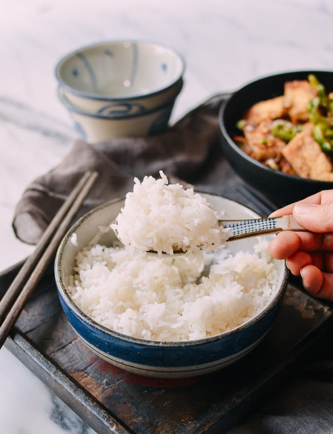 How to Steam Rice, thewoksoflife.com