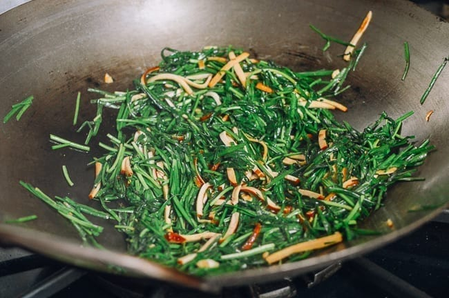 Chinese garlic chive stir-fry, thewoksoflife.com