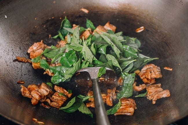 Adding Thai Basil To Stir-fry, thewoksoflife.com