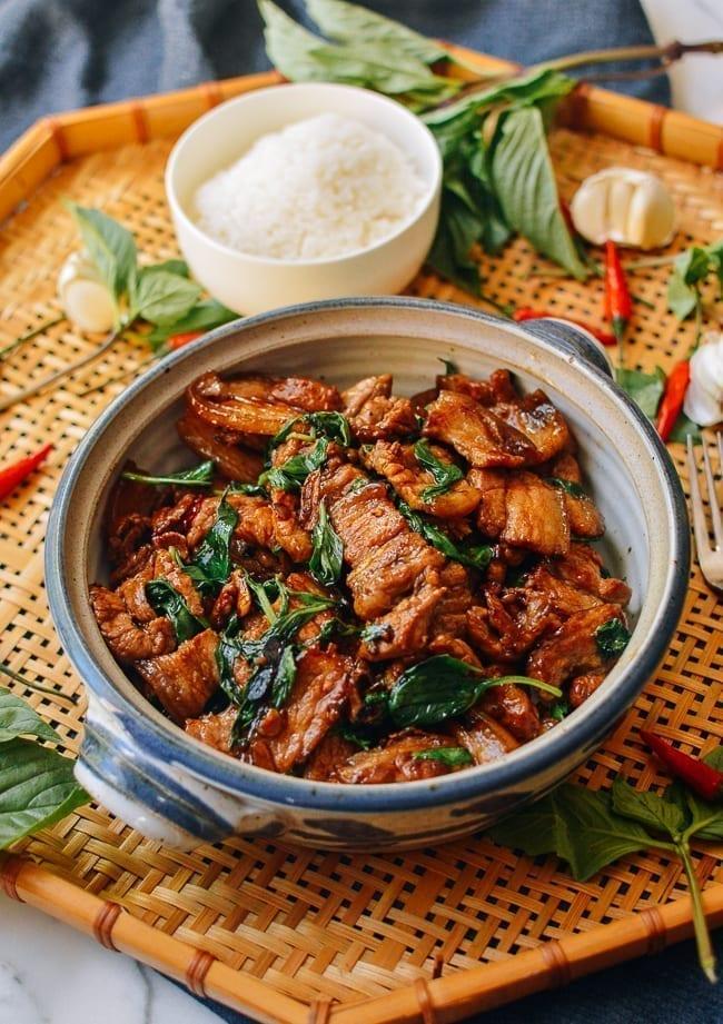 Thai Basil Pork Belly, thewoksoflife.com