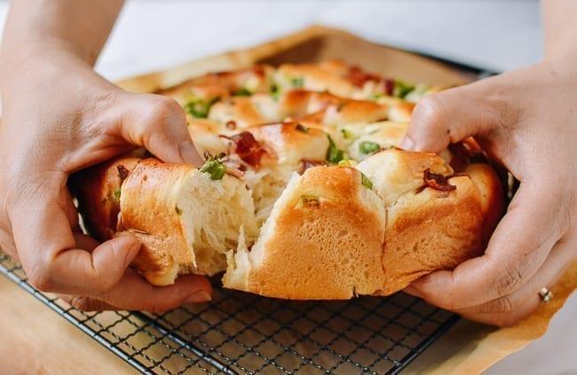 Bacon Scallion Pull-Apart Milk Bread