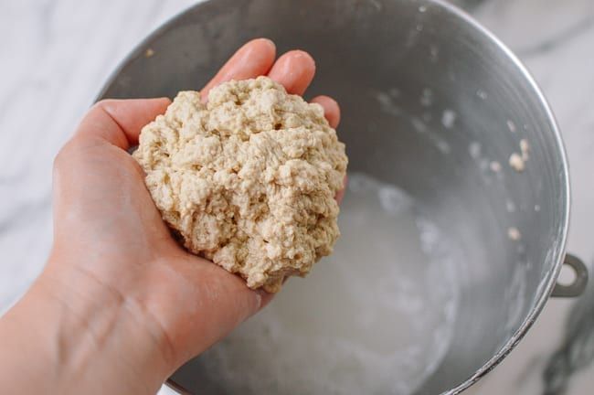 Wheat gluten separated from starch, thewoksoflife.com