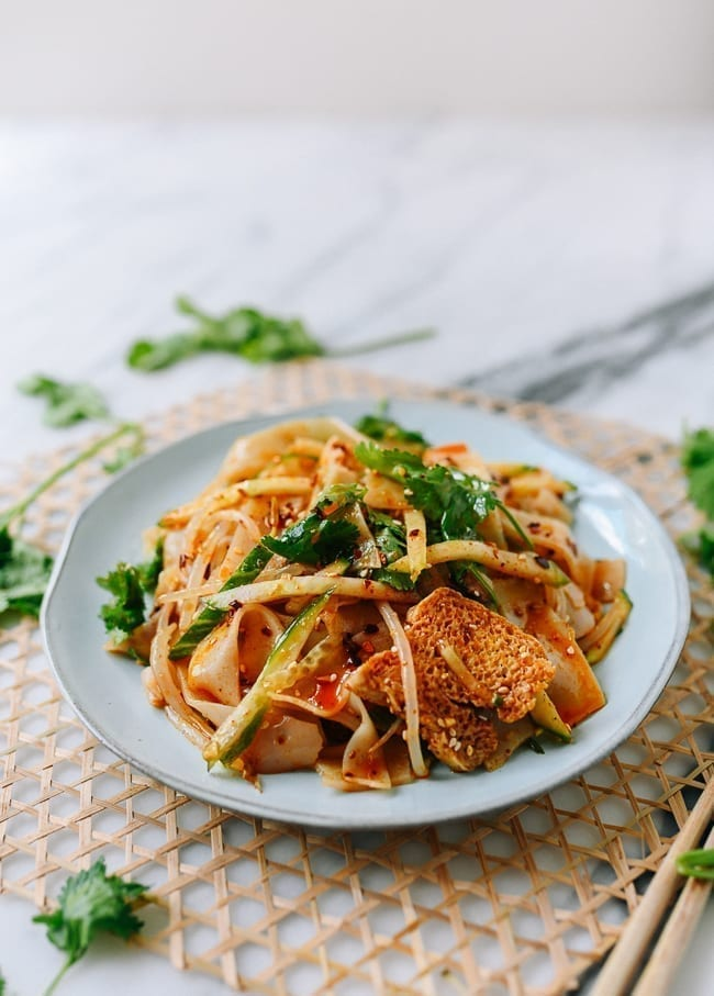 Spicy Cold Skin Noodles (Liangpi), thewoksoflife.com
