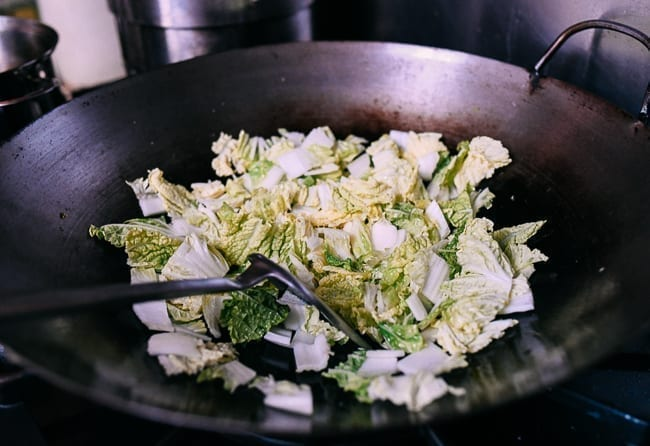 Stir-frying napa cabbage, thewoksoflife.com