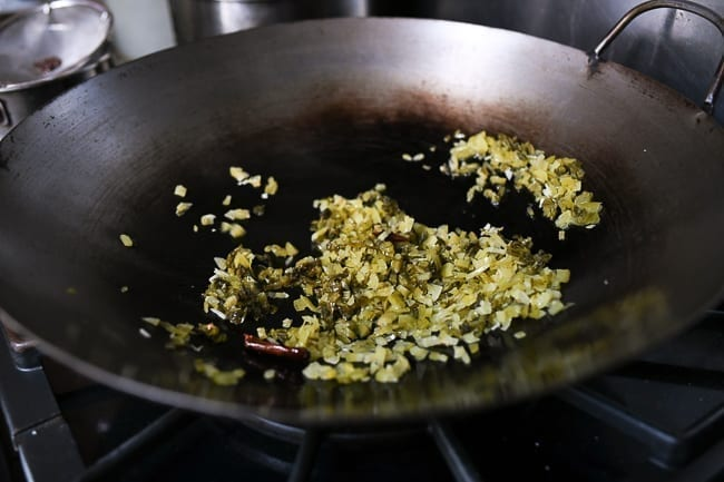 Stir-frying Chinese mustard greens, thewoksoflife.com