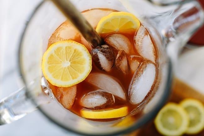 Stirring tamarind iced tea, thewoksoflife.com