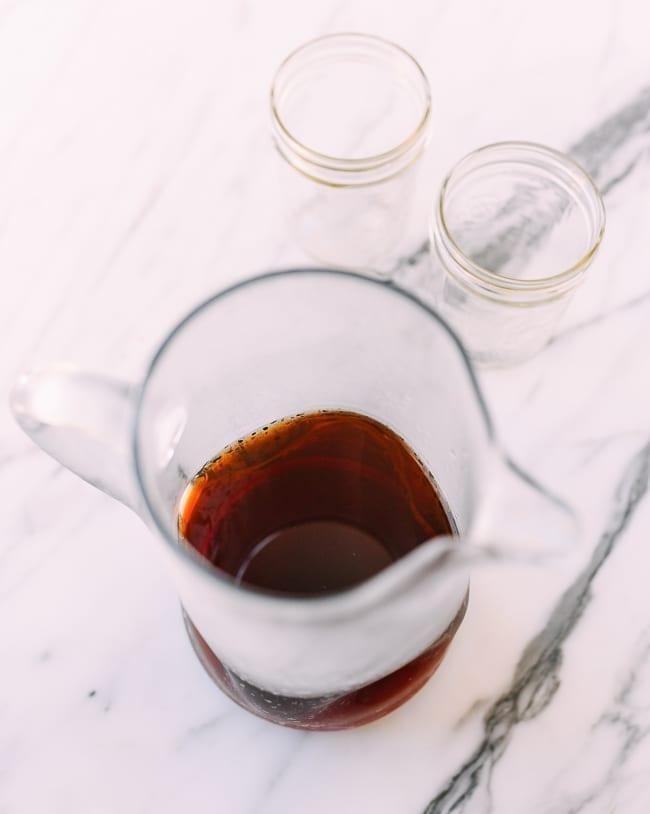 Cooled pitcher of tea, thewoksoflife.com