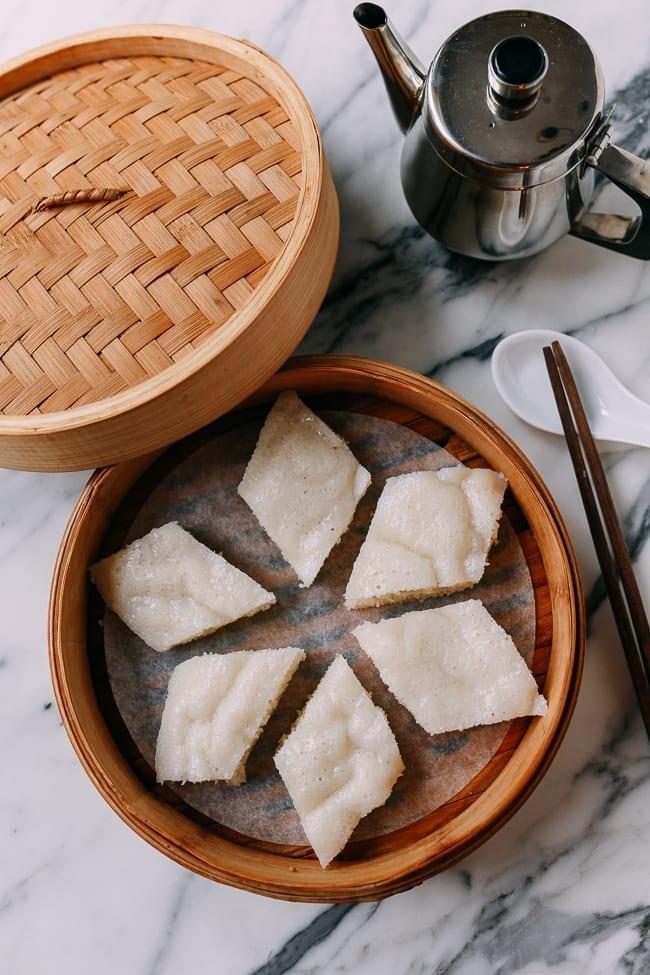 Chinese White Sugar Sponge Cake, thewoksoflife.com