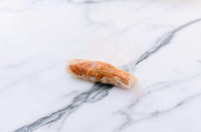 Rolling Vietnamese rice paper roll, thewoksoflife.com