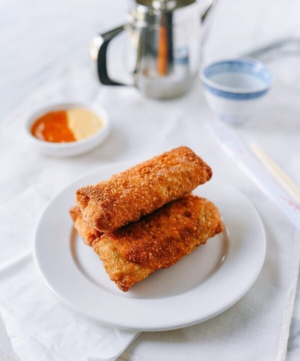 Plate of egg rolls, thewoksoflife.com