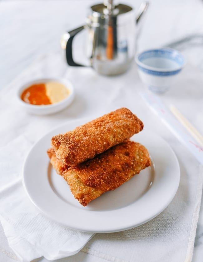 Plate of egg rolls, thewoksoflife.com