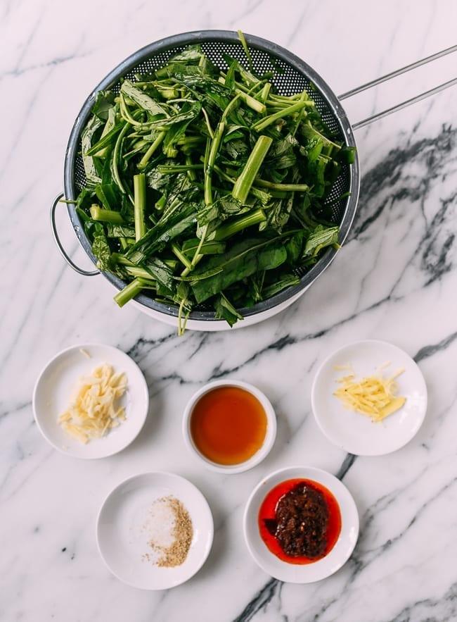 Kangkung Belacan ingredients