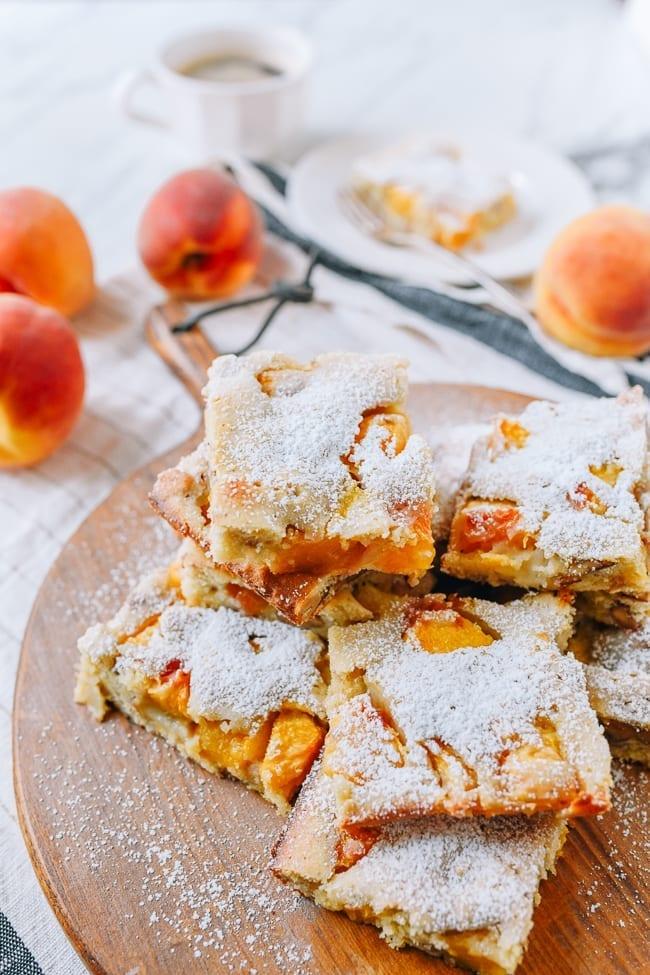 Peach squares, thewoksoflife.com