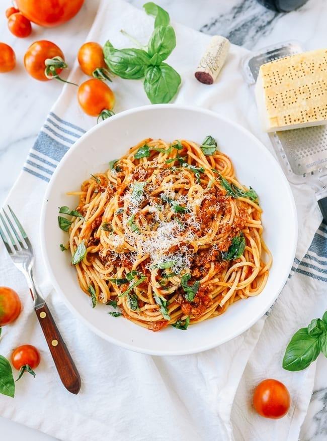 Roasted Tomato Bolognese (Meat Sauce), thewoksoflife.com