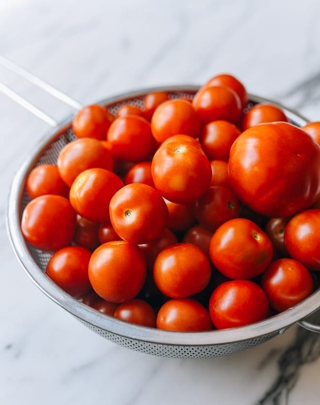 Tomatoes from our garden, thewoksoflife.com
