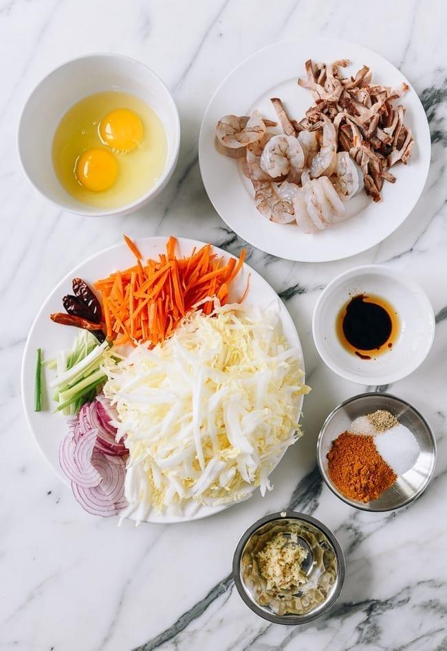 Singapore Noodles Ingredients, thewoksoflife.com