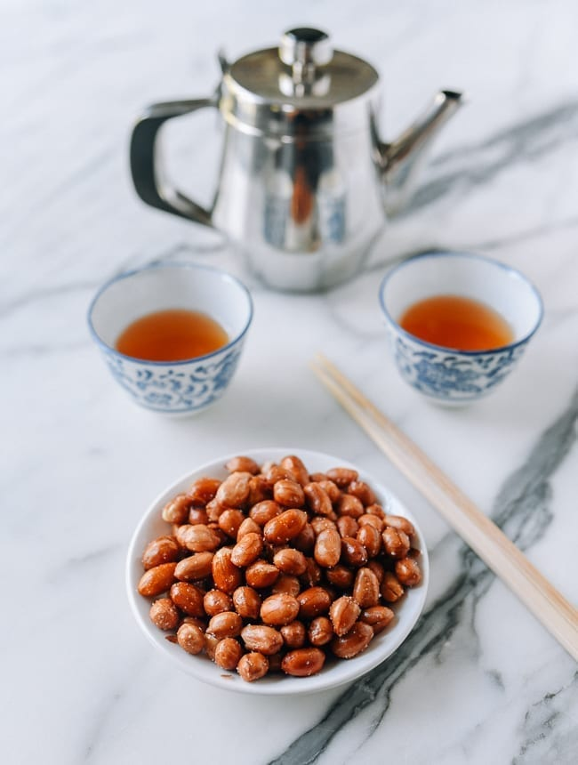 Chinese fried peanuts served with tea, thewoksoflife.com