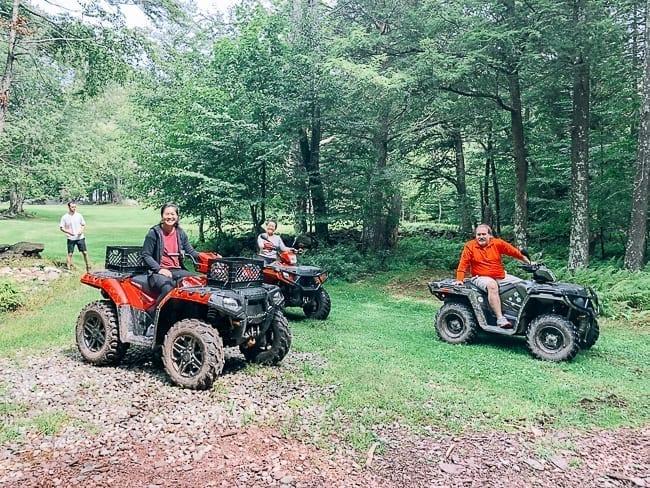 Sarah, Kaitlin, and David on ATVs, thewoksoflife.com