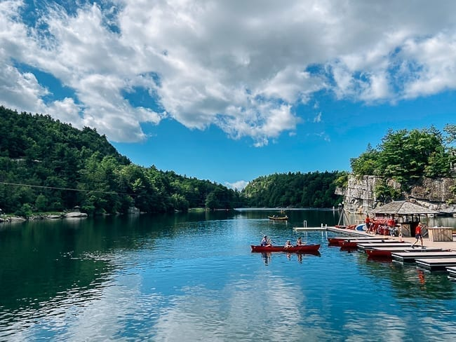 Canoeing on Mohonk Lake, thewoksoflife.com