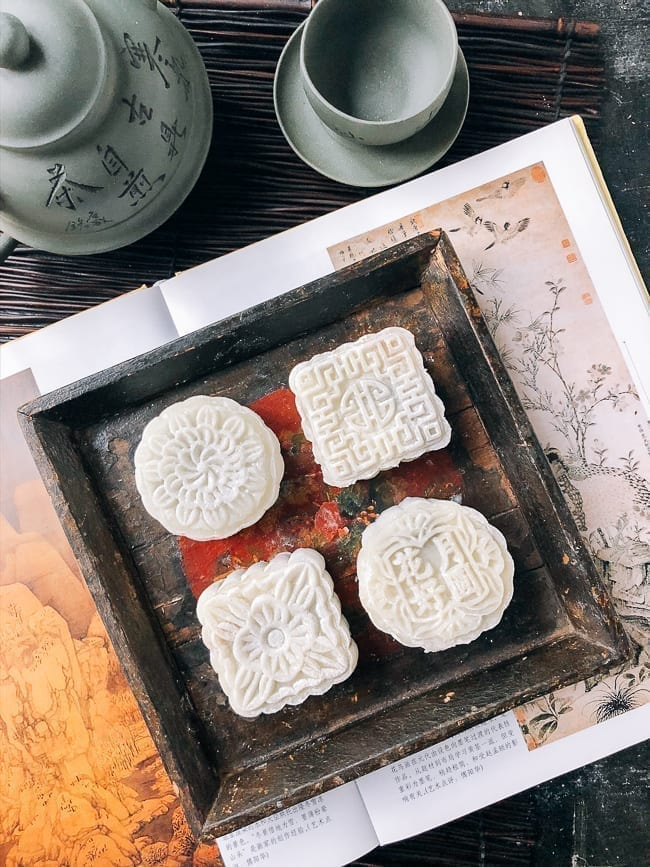 Snow Skin Mooncakes in different shapes, thewoksoflife.com