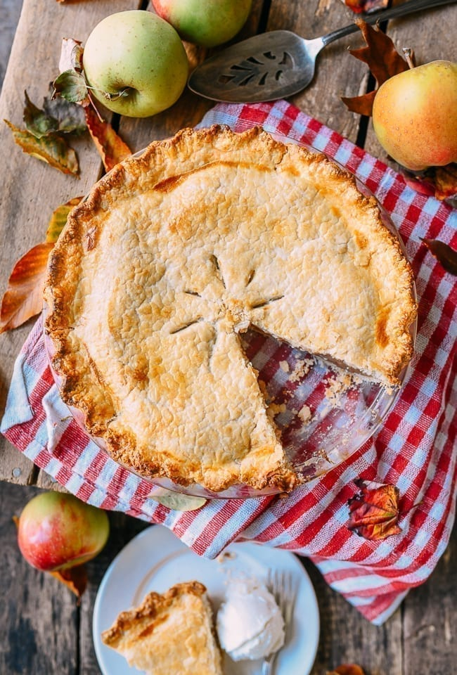 Apple Pie with slice removed, thewoksoflife.com