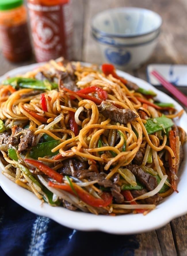 Plate of Beef Lo Mein, thewoksoflife.com