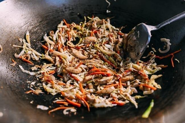 Chicken and vegetables in wok, thewoksoflife.com
