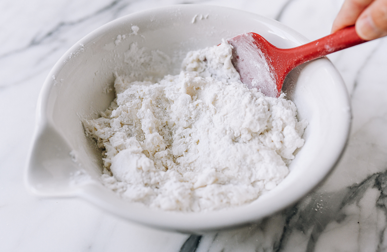 Mixing in more glutinous rice flour and water
