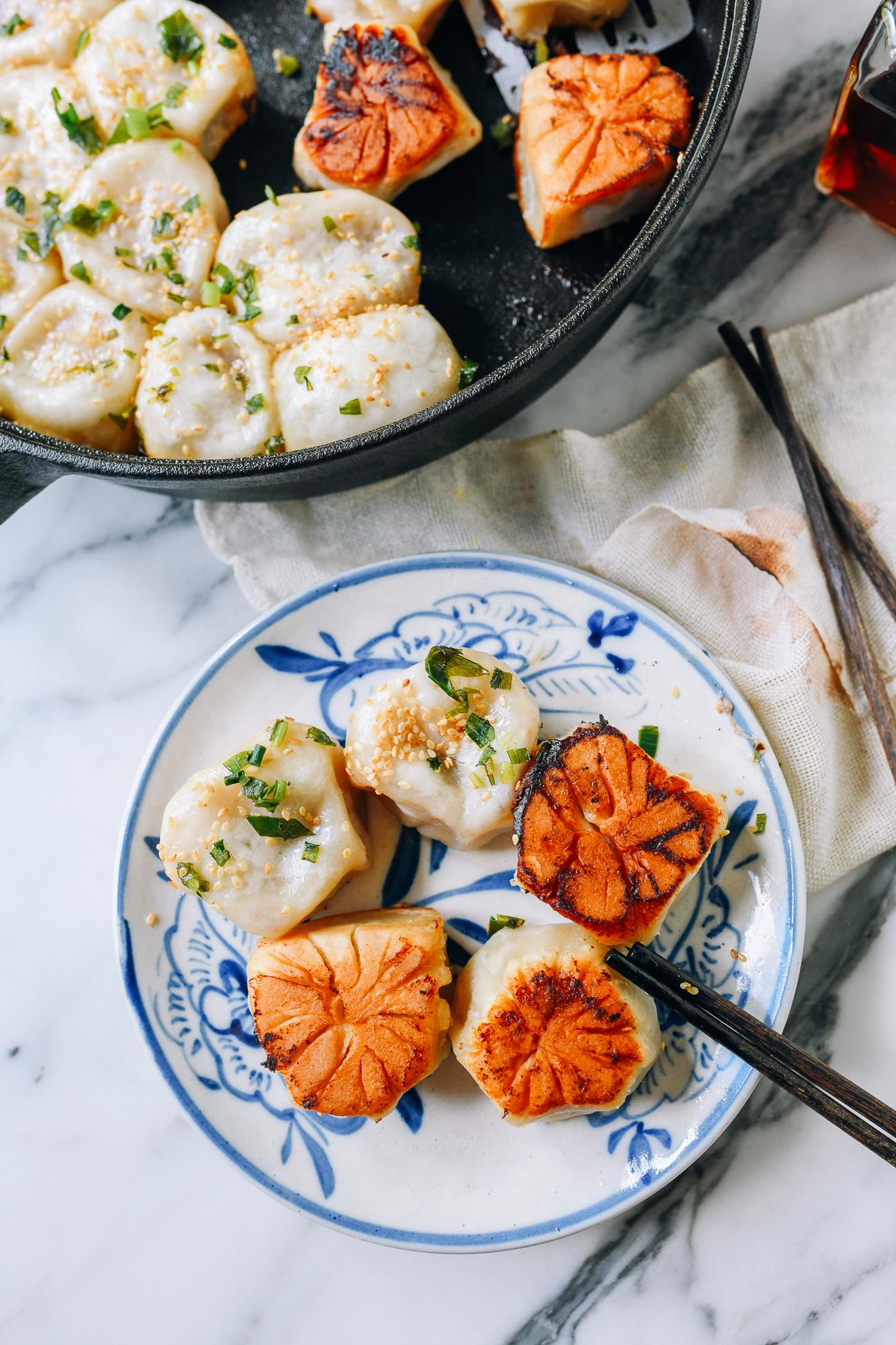 Shanghai Pan-fried Pork Buns, Shengjian Mantou, thewoksoflife.com