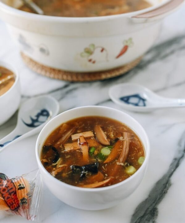 Vegetarian Hot & Sour Soup, thewoksoflife.com