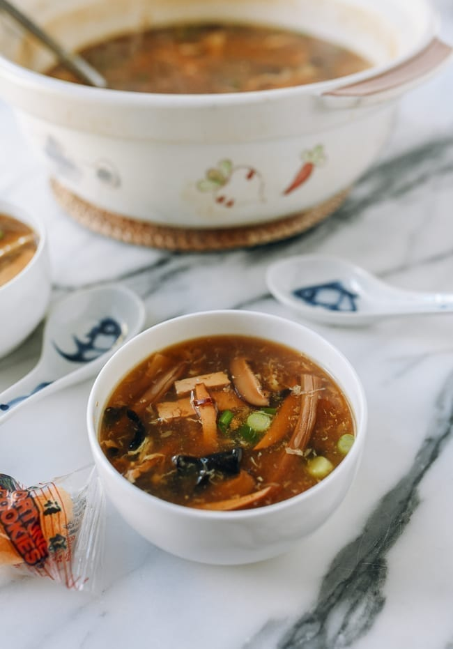 Vegetarian Hot & Sour Soup, thewoksoflife.com