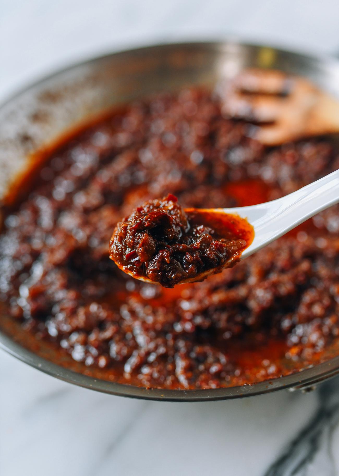 Spoonful of Malaysian Chinese Belacan Sauce (Ma Lai Zan)