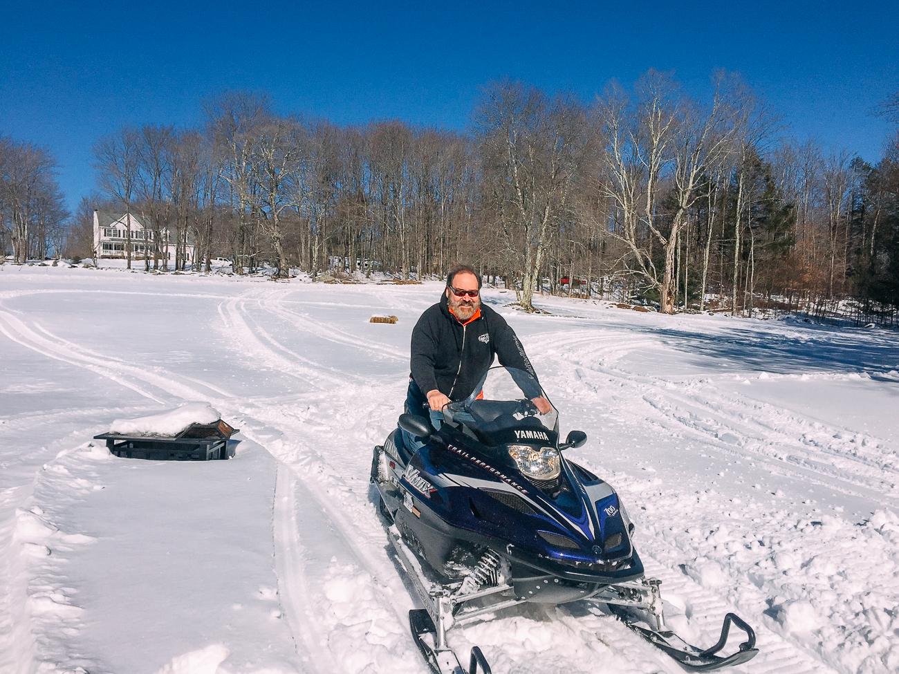 Bill's friend David on snowmobile