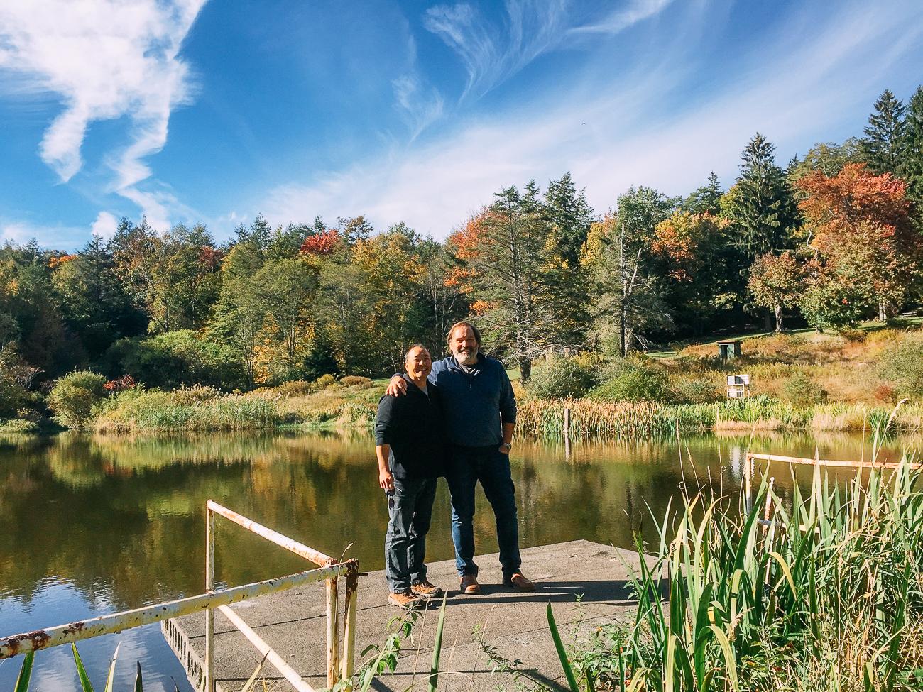 Bill and David at the Lake