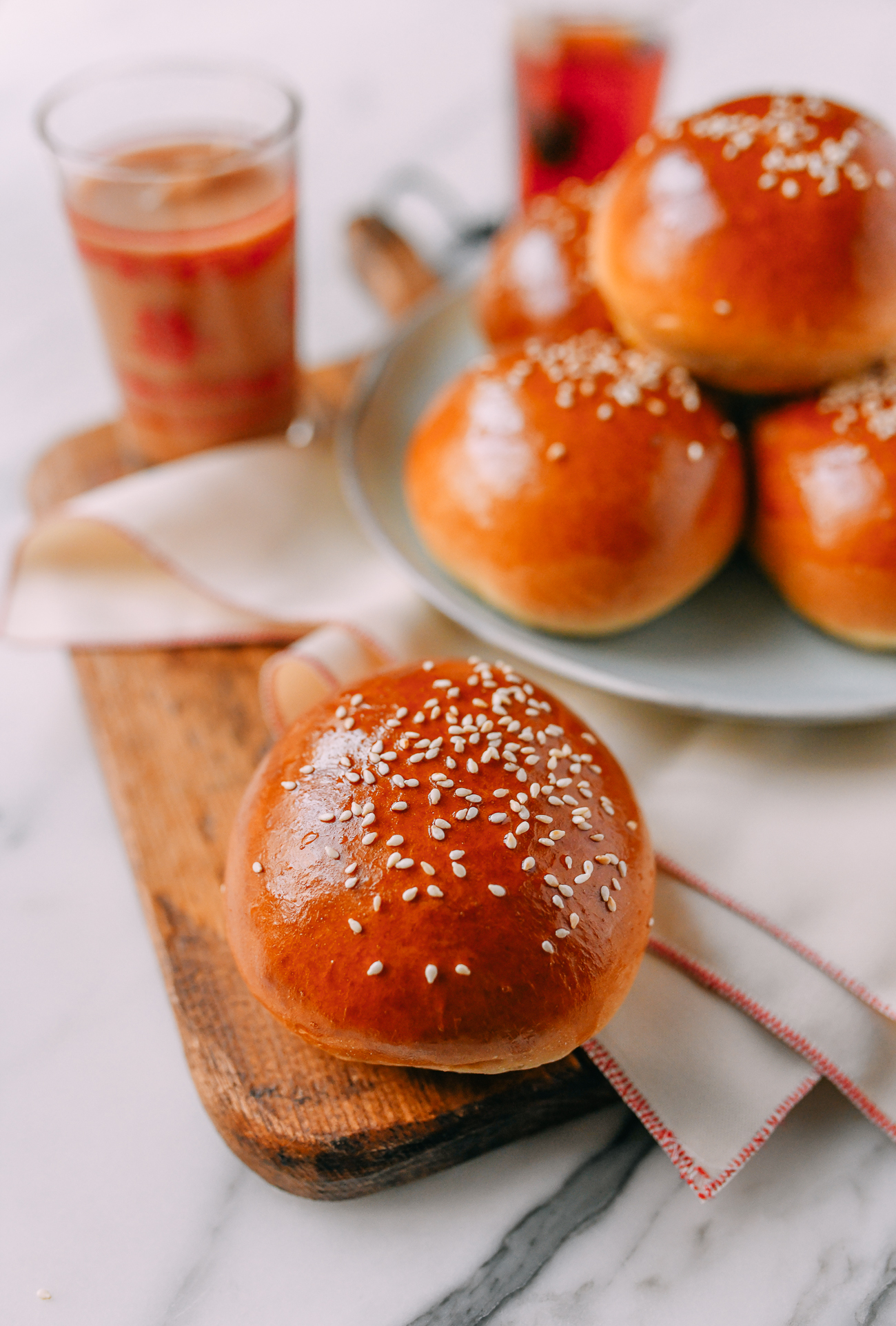 Cha siu bao baked chinese pork buns