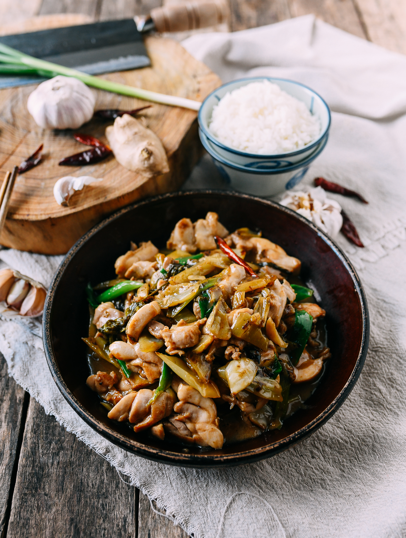 Chinese Chicken with Pickled Mustard Greens