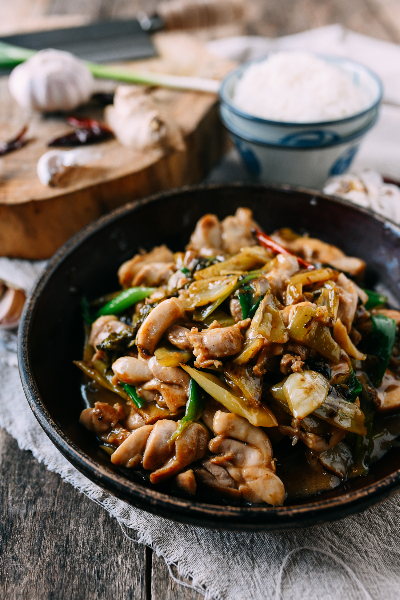 Cantonese Chicken with Pickled Mustard Greens