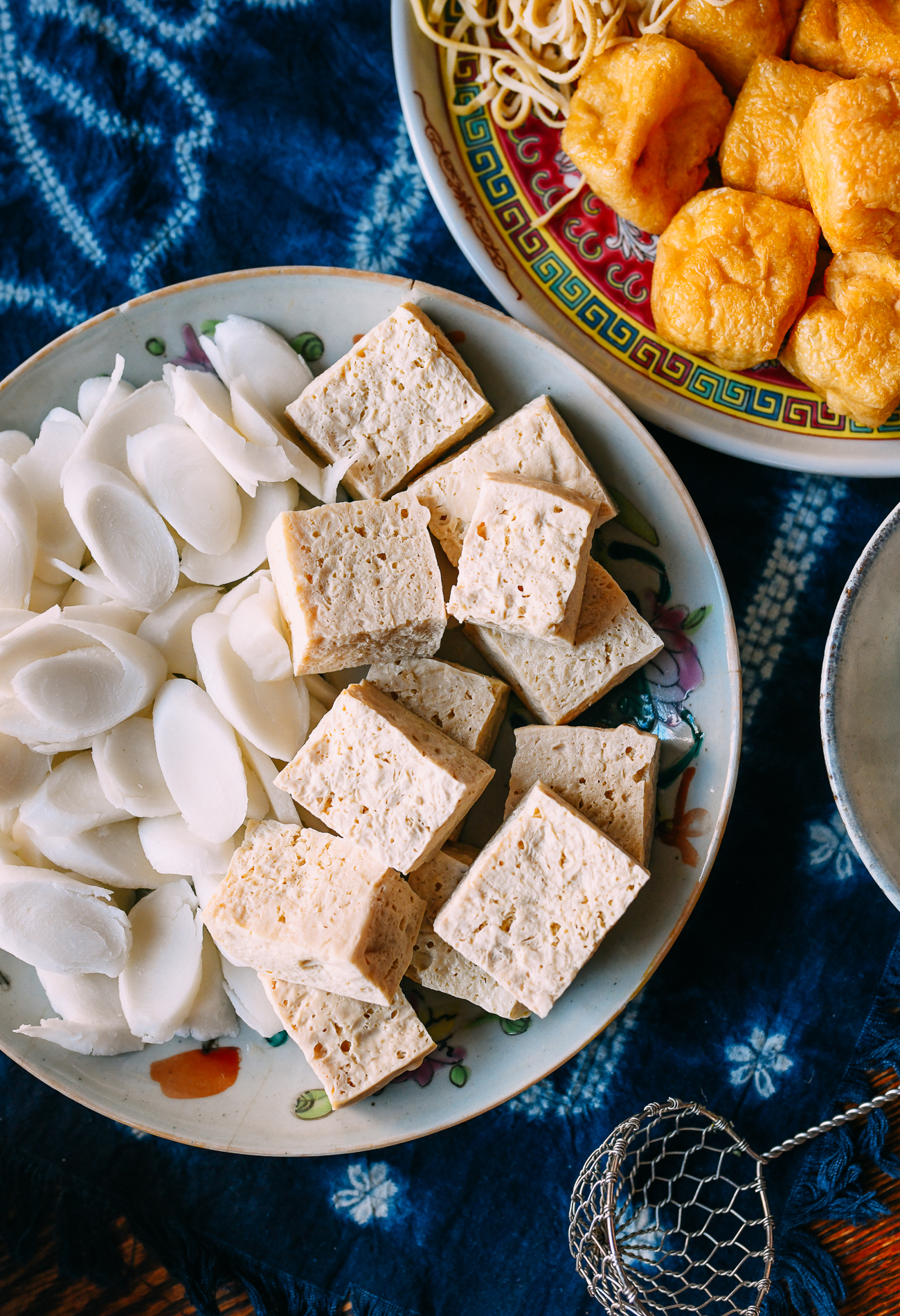 Rice cakes and frozen tofu
