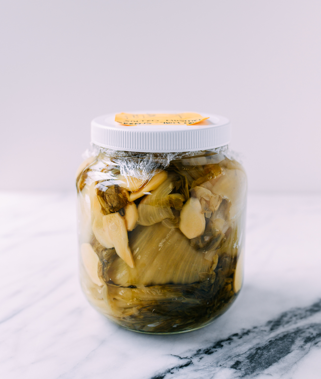 Jar of Chinese Pickled Mustard Greens Ham Choy