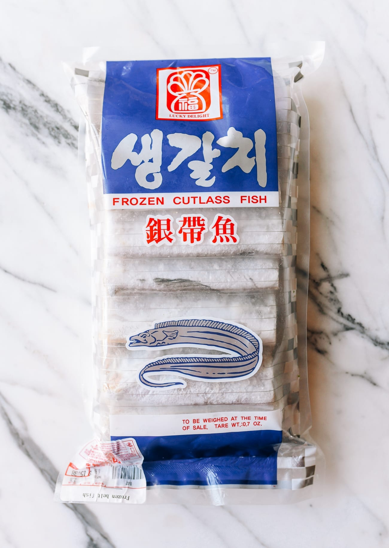 Package of belt fish
