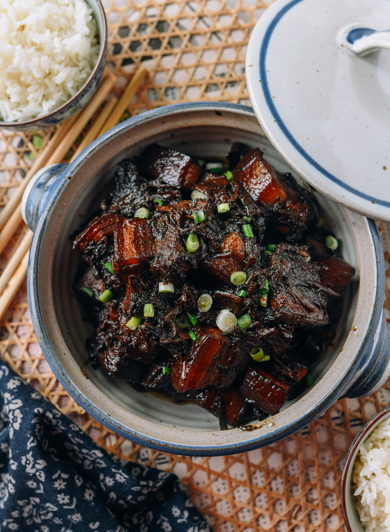 Braised Pork Belly with Meigan Cai