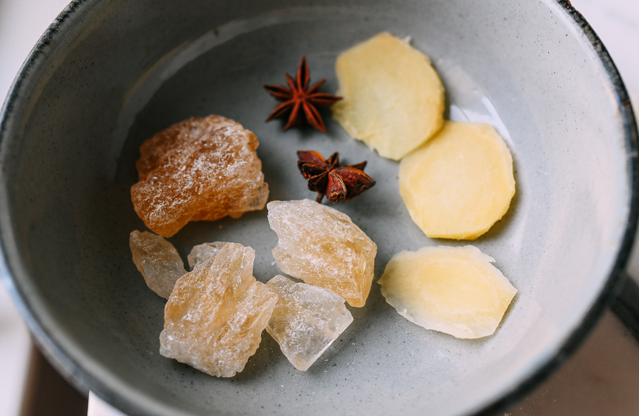 Rock Sugar, Star Anise, and Ginger