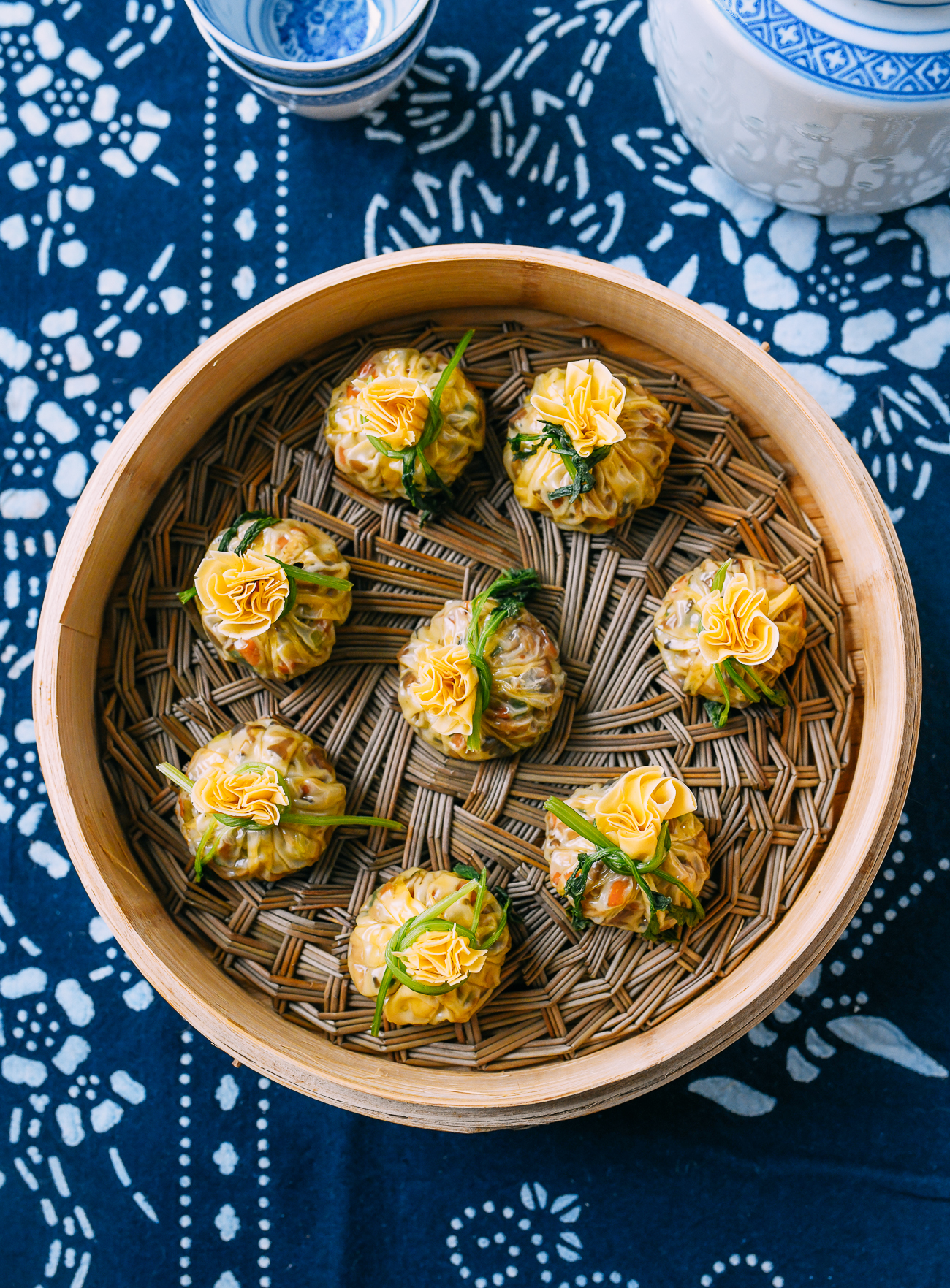 Steamed Golden Purse Dumplings