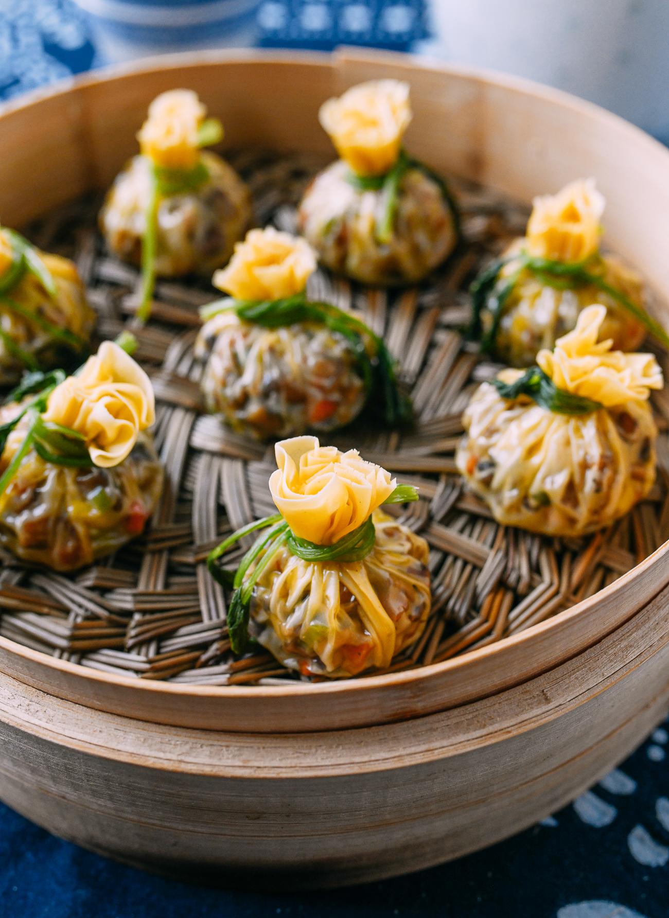Steamed Chinese Money Bag Dumplings